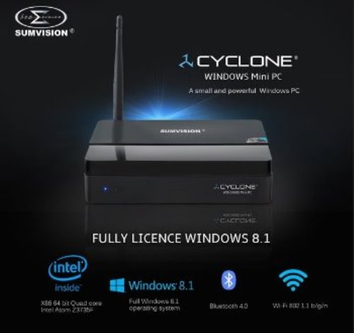 Sumvision Cyclone Mini PC Official Windows 8.1 Atom 1.83GHz