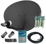 43cm Sky Freesat Dish Pack Zone 1 MK4 Plus Wall Mount